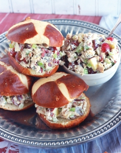 Maroon and White Chicken Salad