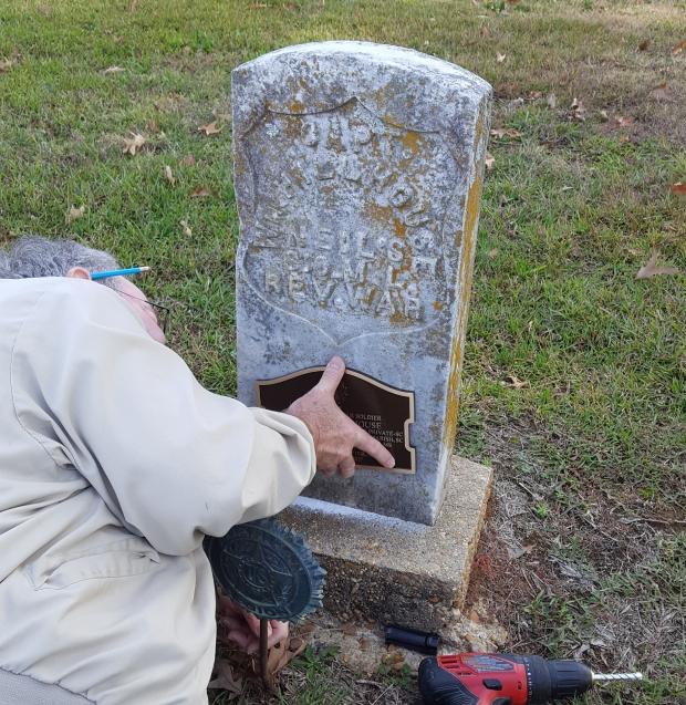 Carlton Polk SAR member mounting marker